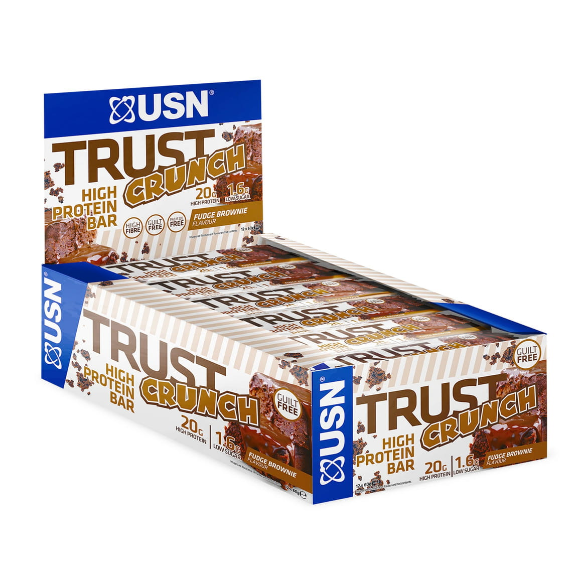 USN Trust Crunch Bar, 12x60g