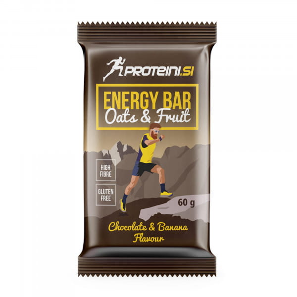 PROTEINI.SI ENERGY BAR 60gr, Chocolate-Banana + milk chocolate