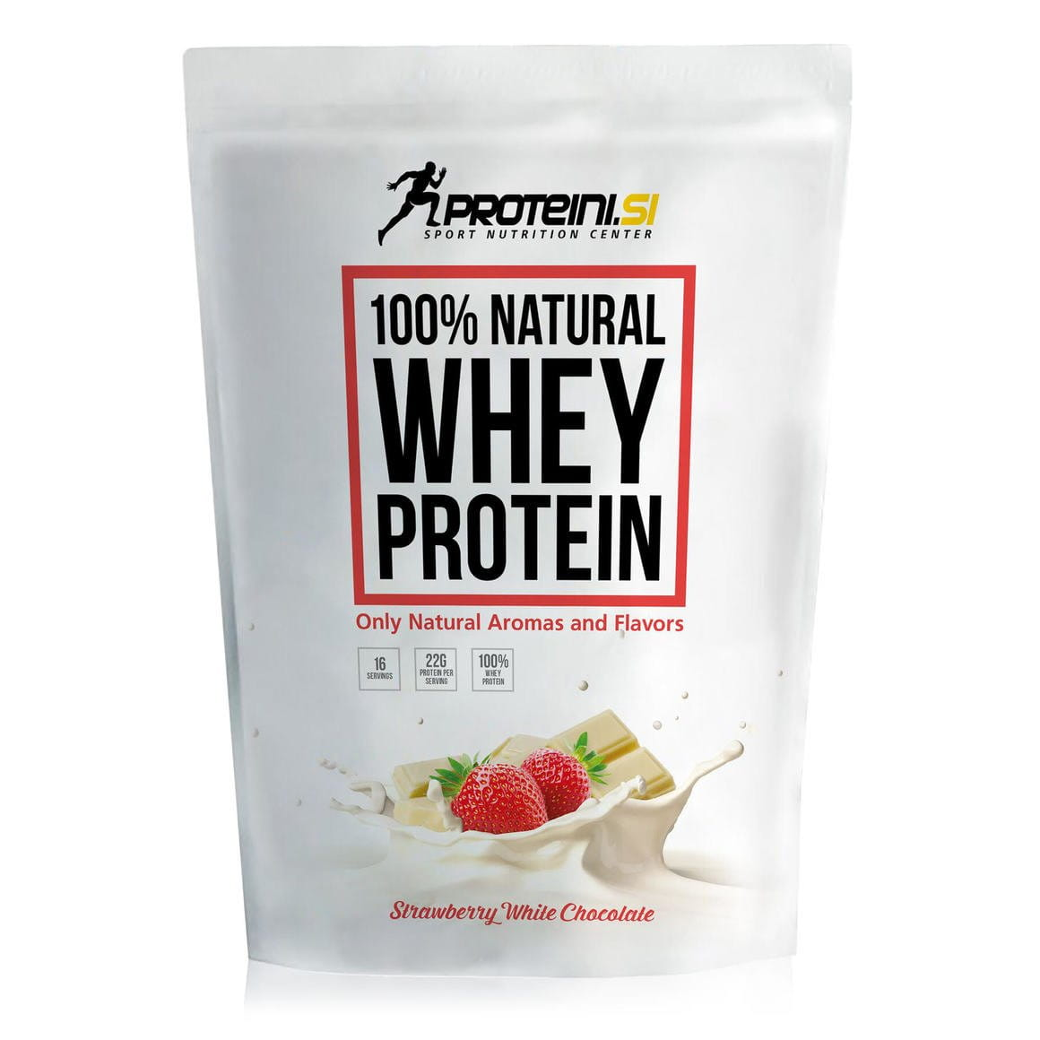 Proteini 100% Natural Whey Protein, 500g