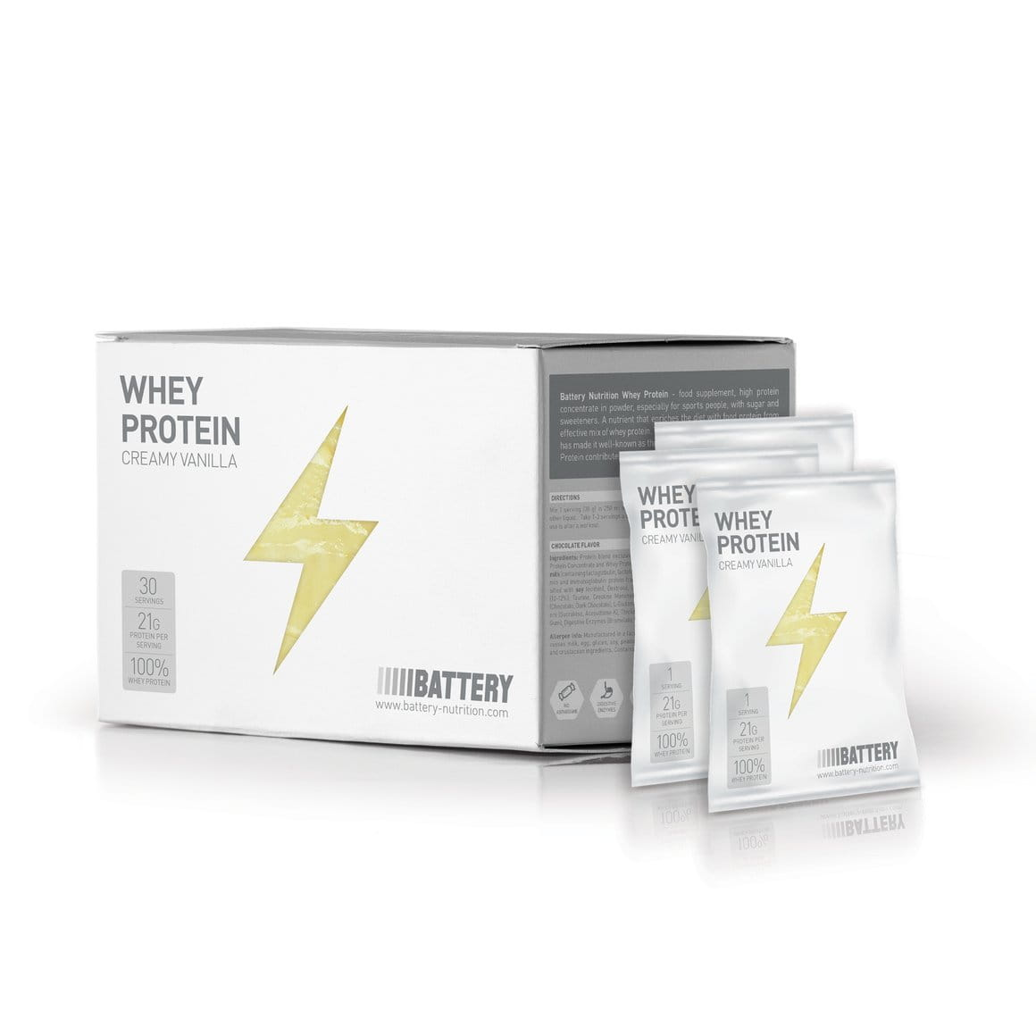 Battery Whey Protein, 30x30g