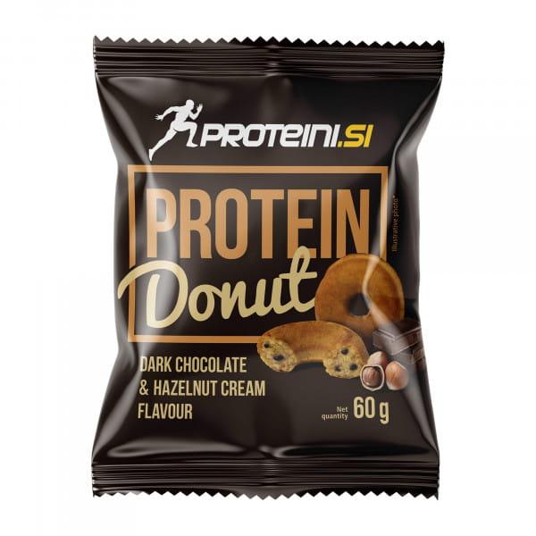 PROTEINI.SI PROTEIN DONUT 60gr, Dark Chocolate & Hazelnut Cream